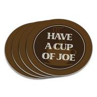 Coaster Set Food Drink Bacon Coffee | eBay