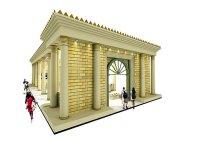 Editora da Igreja Universal monta estande no formato do Templo de Salomão para a Bienal Internacional do Livro de São Paulo