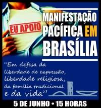 Assista aqui AO VIVO a Manifestação Pacífica em Brasília pela Família organizada pelo Pastor Silas Malafaia