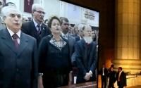 Presidente Dilma Rousseff sofre com falta de luz e críticas e deixa o Templo de Salomão antes do fim da inauguração