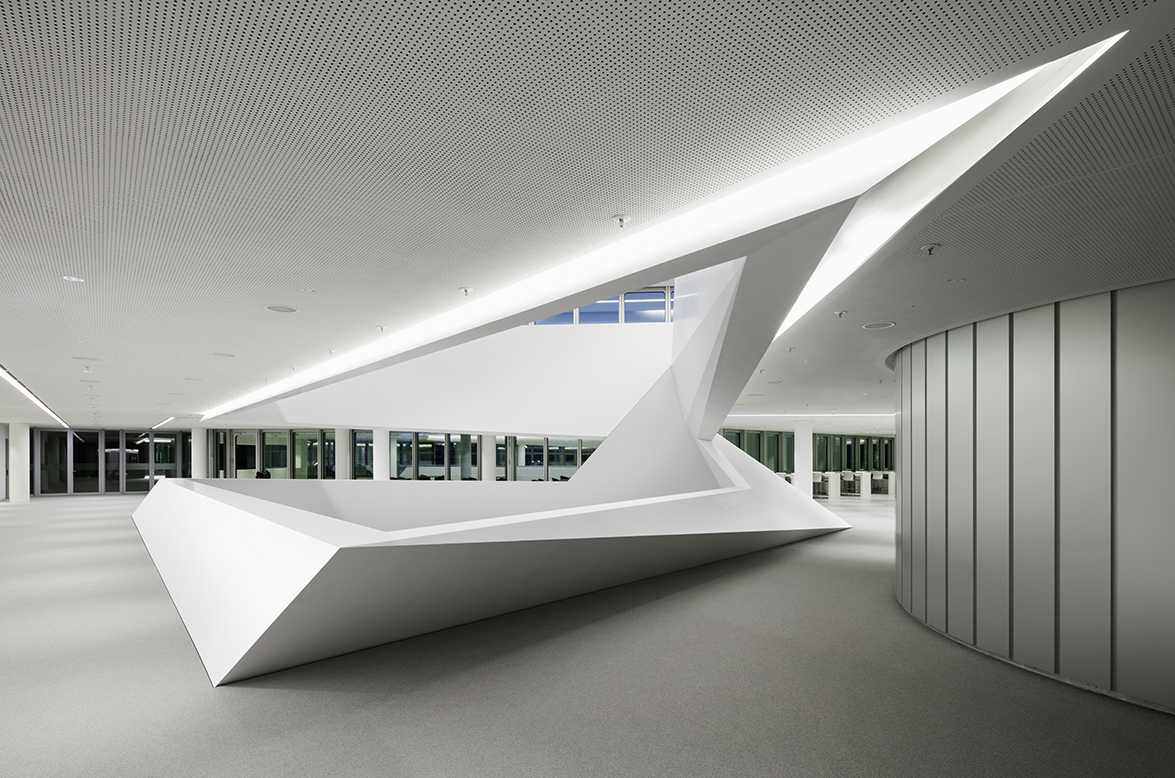 Corian Waschbecken Rosskopf Polygonal Hi Macs Structure In Munich 39s Hvb Tower By Henn