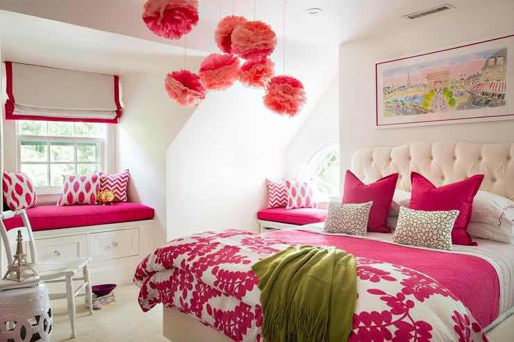 Black And Cream Damask Wallpaper 20 Dormitorios De Color Fucsia Para Chicas