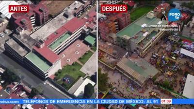 Colegio Rébsamen antes y después del sismo   Televisa News
