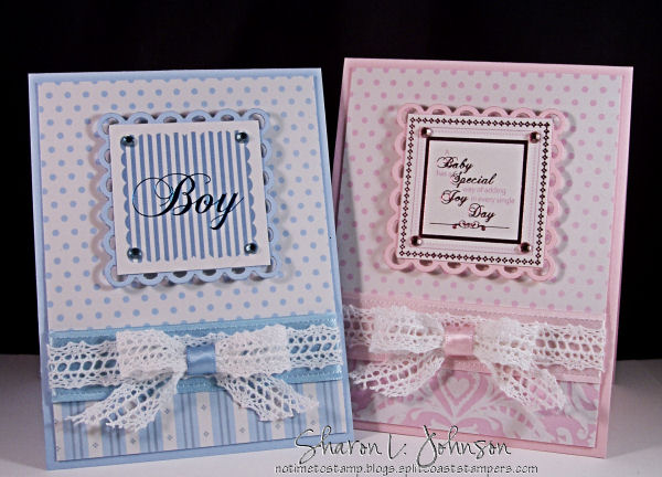 Ribbon Inspiraton/Stamp Simply Style \u2013 Sweet Baby!