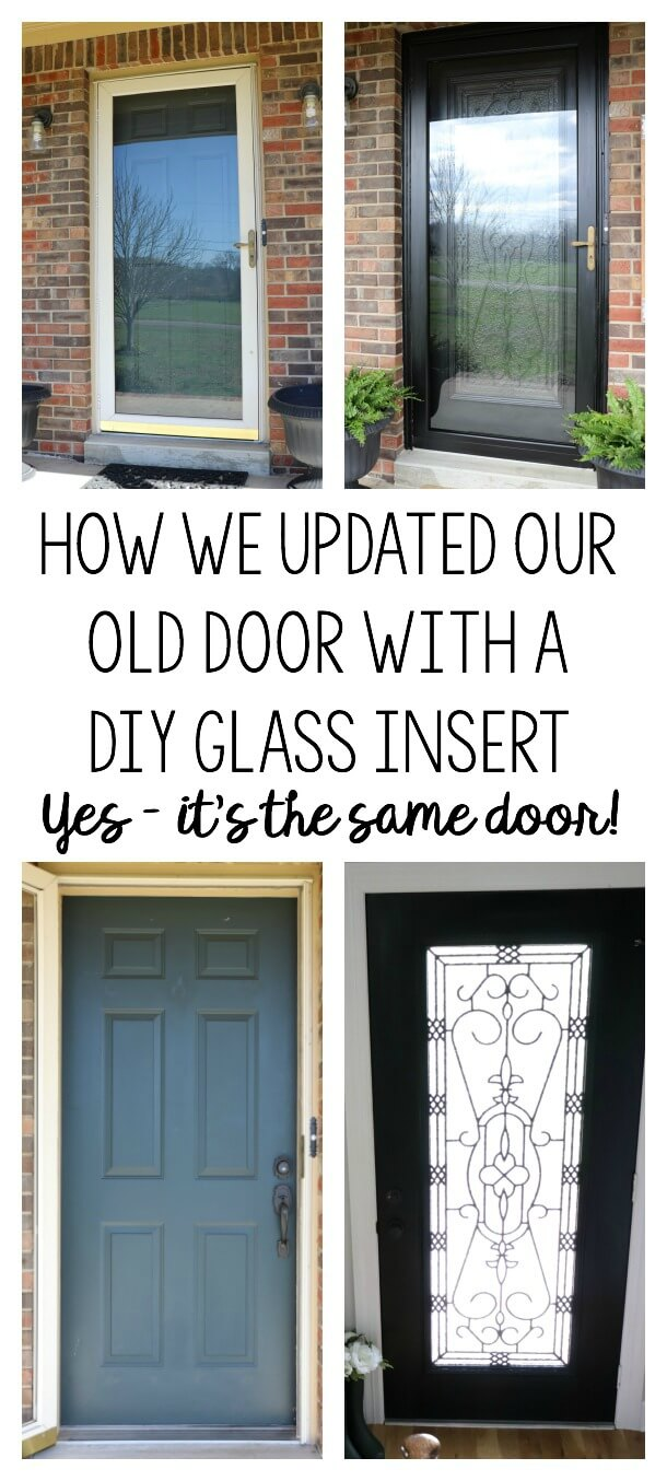Glass Front Door Brightening Our Entryway For Spring With A Diy Glass Door Insert