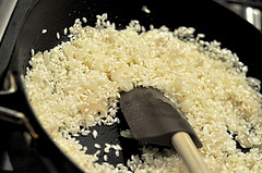 Cooking the risotto rice