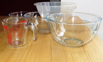 A selection of Bowls and a Measuring Jug