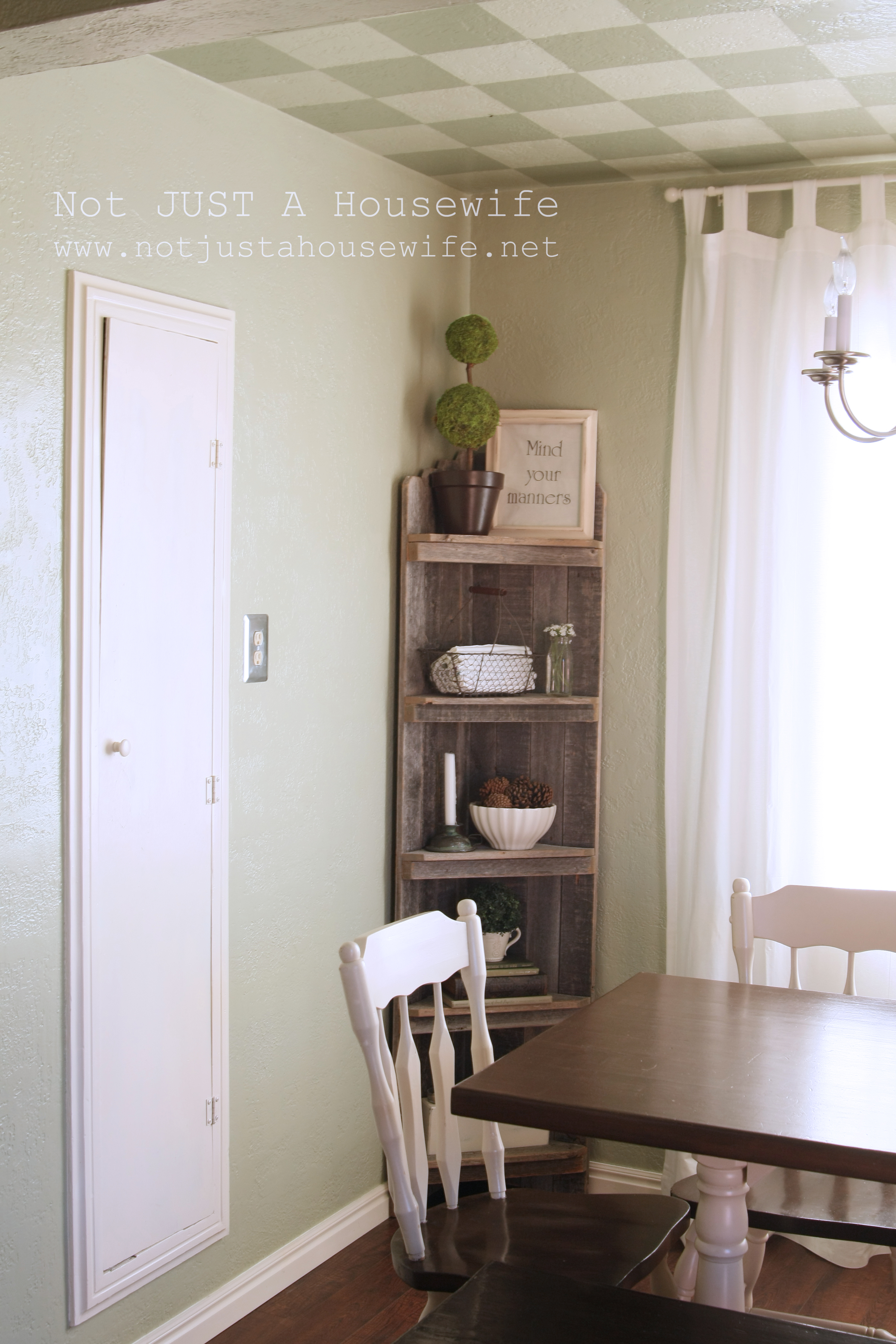 Dining Room Wall Shelves Dining Room Update French Country Not Just A Housewife