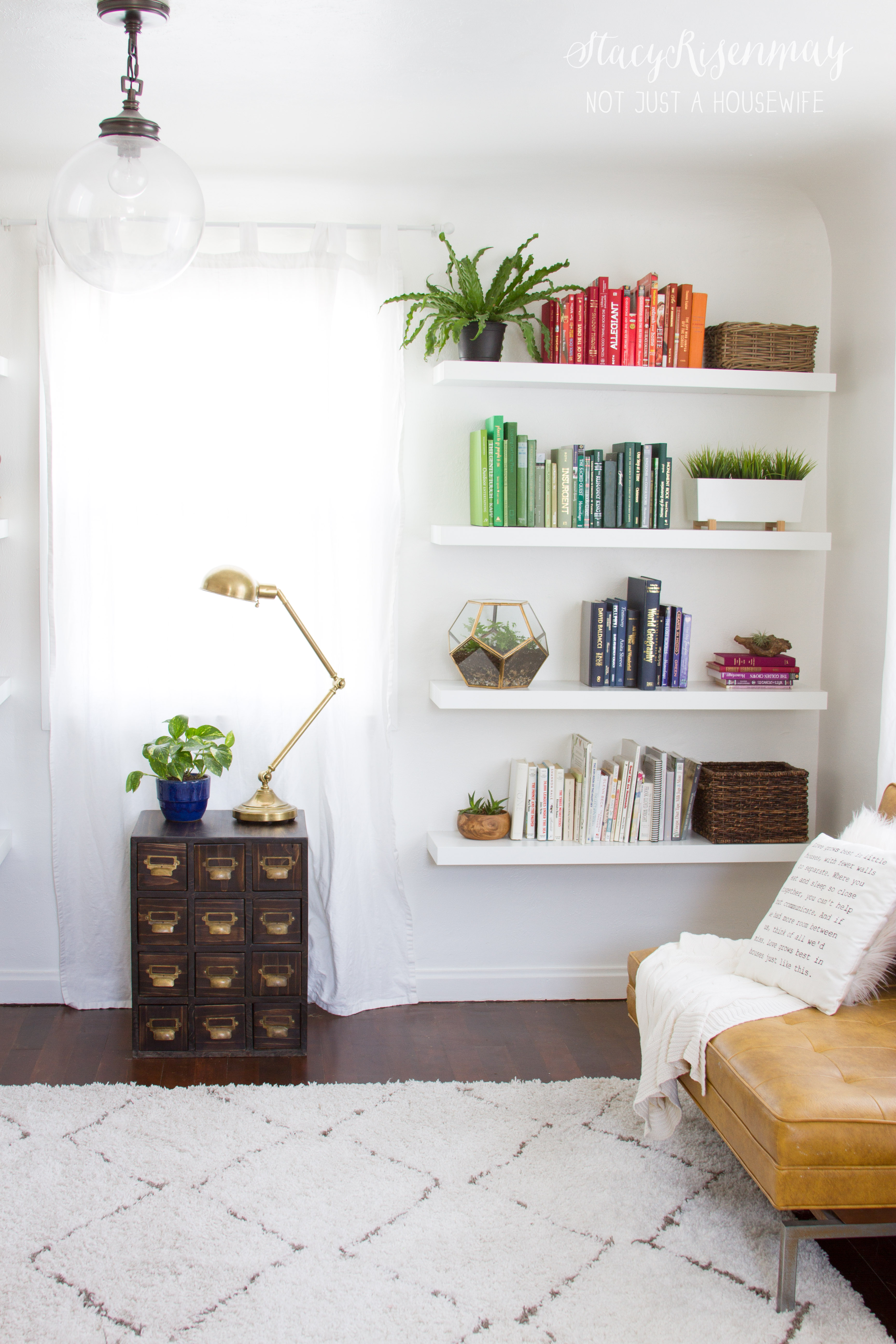 Bookshelf Ideas For Bedroom Bright And Colorful Family Room Not Just A Housewife