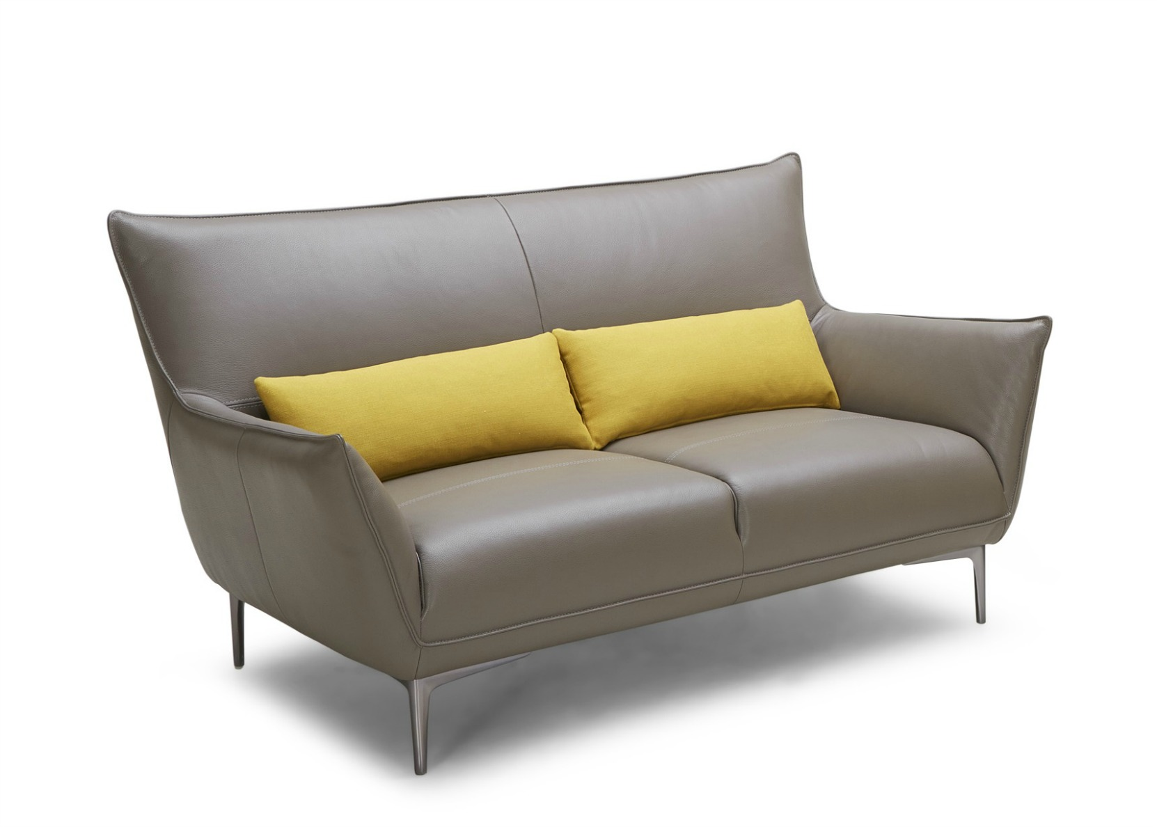 Iris Leather Sofa In Yellow And Brown Not Just Brown