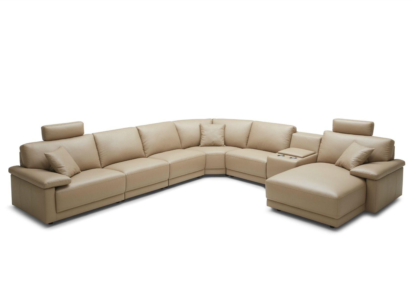 Alpha Sofa Group Modular L Shape Group Sofa In Leather Not Just Brown