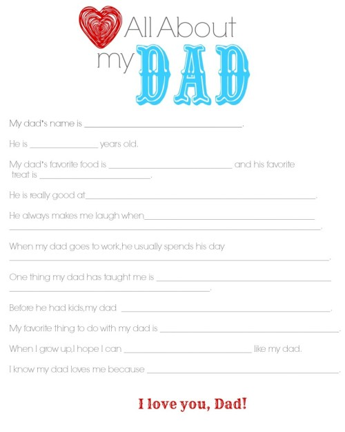 Grande Day Far S Day Questionnaire Preschoolers Printable Far S Day Questionnaire Free All About My A Questionnaire