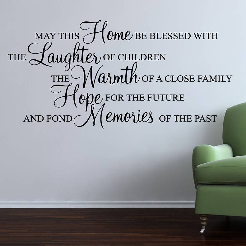 home blessed wall stickers quote parkins interiors journey destination quote decal wall stickers transfers ebay