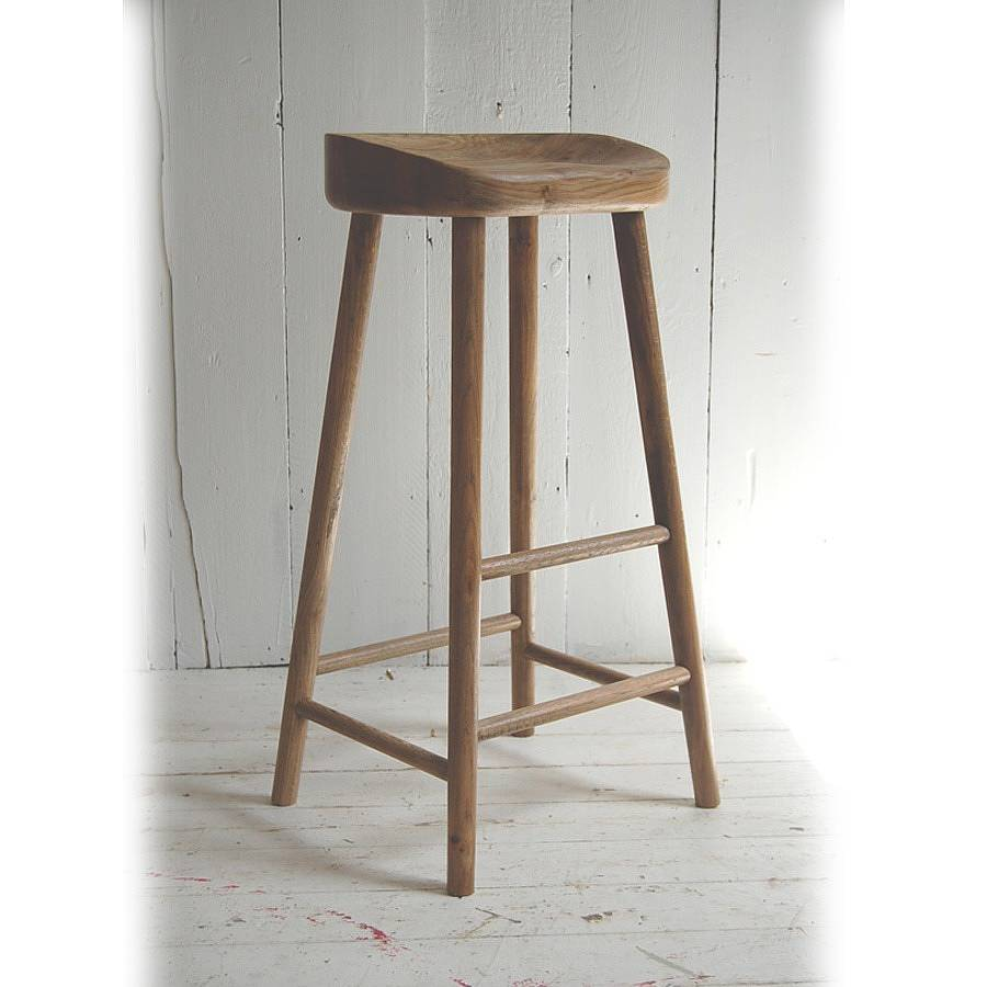 Kitchen Island Butchers Block Weathered Oak Bar Stool By Eastburn Country Furniture