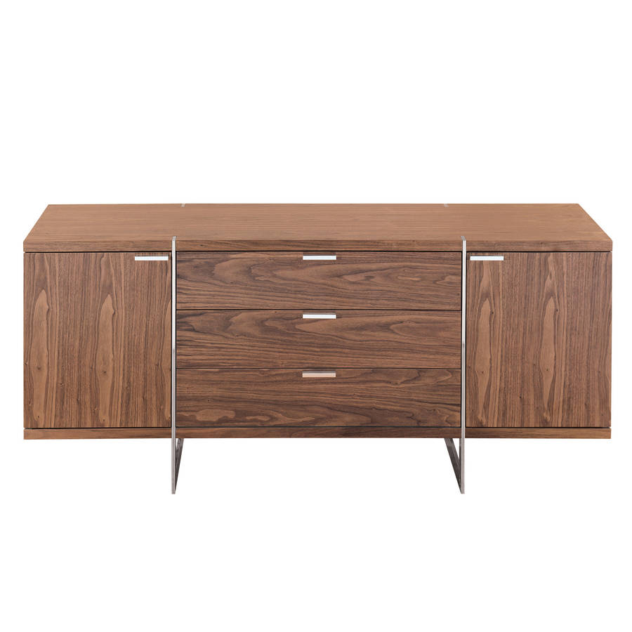 Nussbaum Sideboard Modern Walnut Finish Sideboard By Out There Interiors