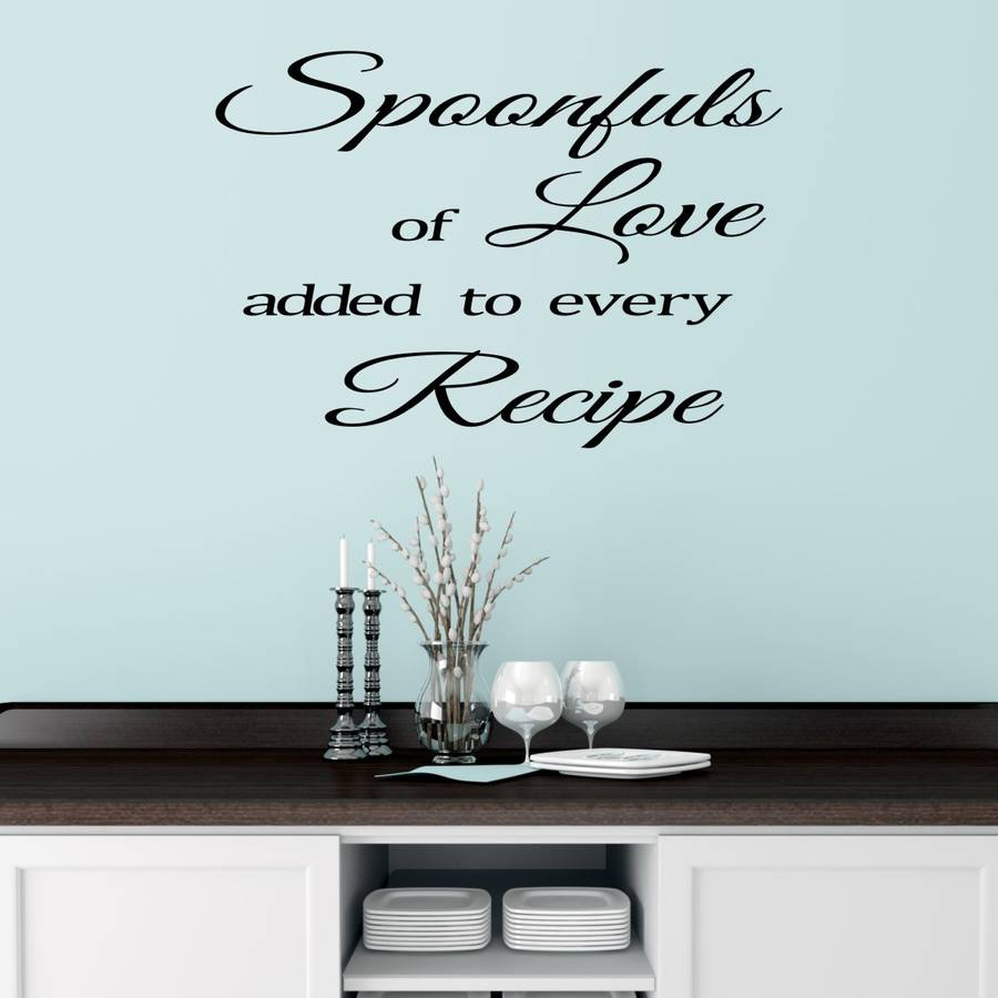 kitchen wall sticker quote mirrorin notonthehighstreet personalised kitchen wall sticker decals