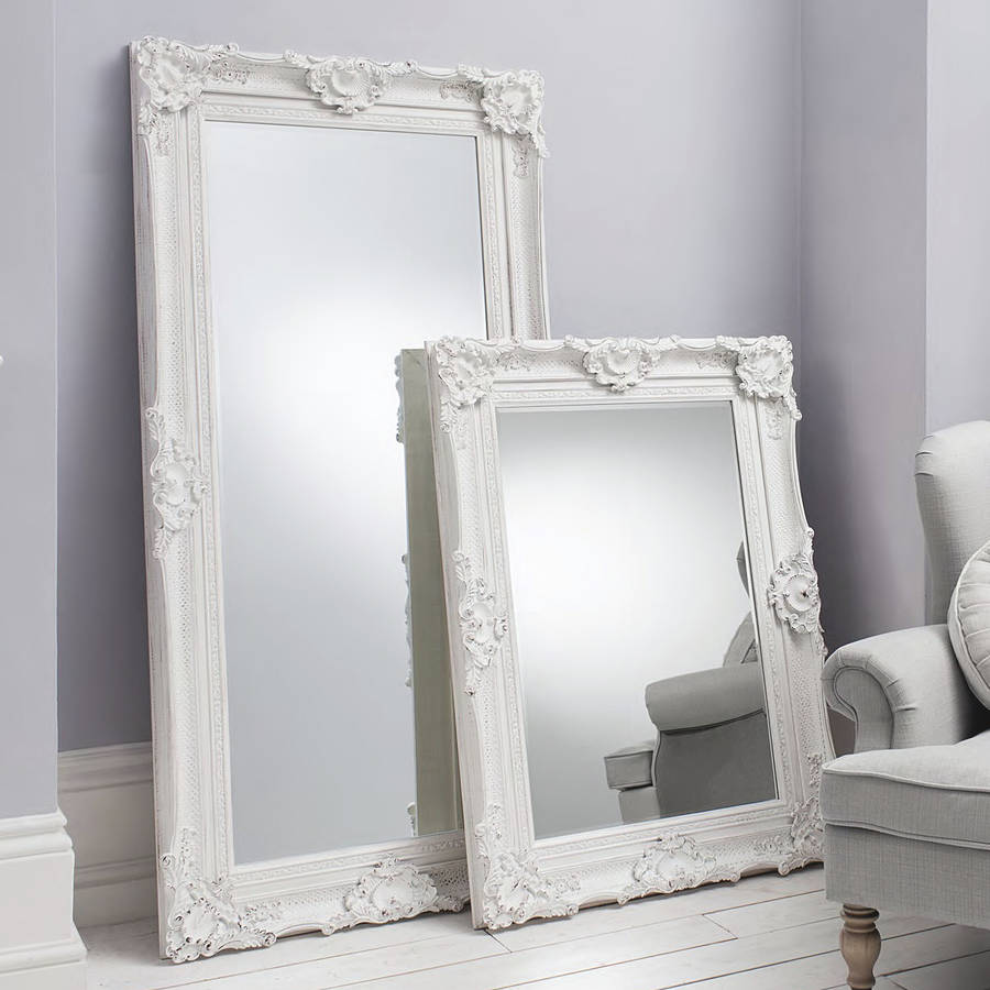 Leaner Mirror Ikea Ornate White Wall And Leaner Mirror By Primrose & Plum