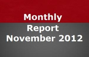 Blog Progress Report November 2012