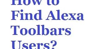 Ways to Find Alexa Toolbars Users