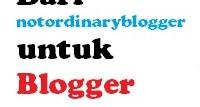 Kontes Blog dari Notordinaryblogger untuk Blogger