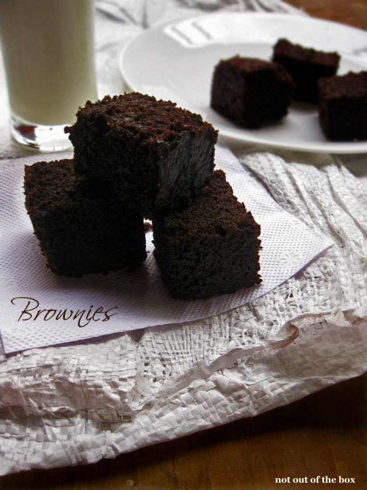 Eggless Brownies | Not Out of the Box