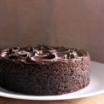 Eggless Dark Chocolate Cake