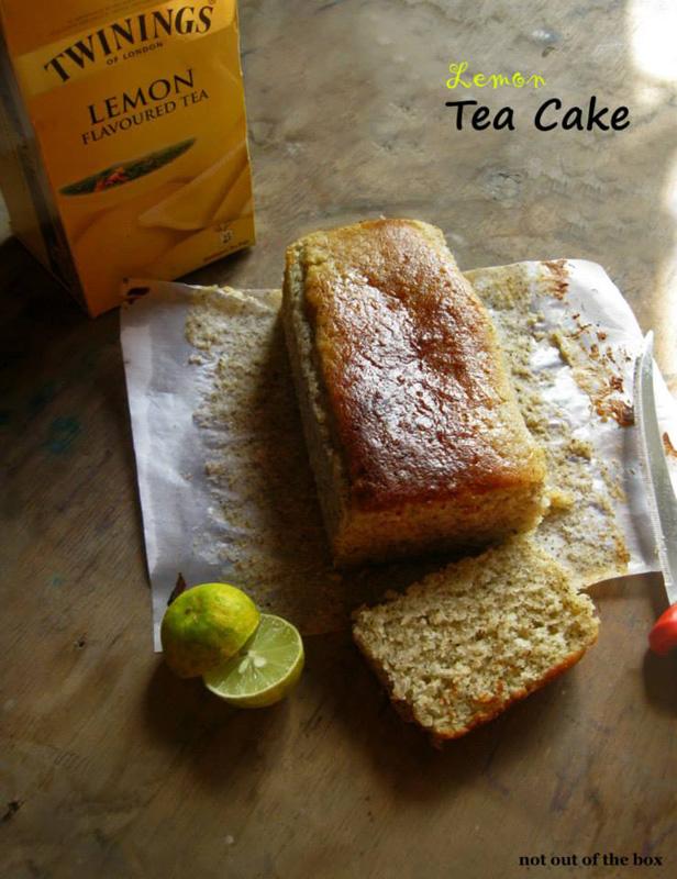 Eggless Lemon Tea Cake