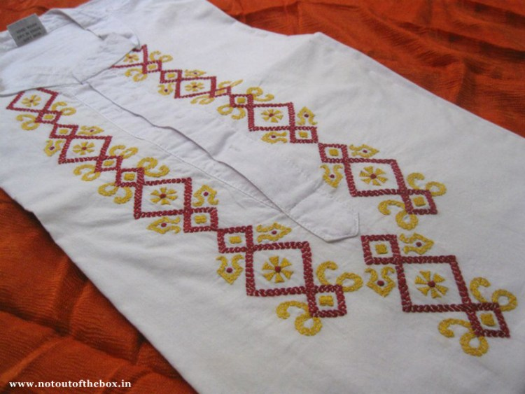 Embroidery on Kurta