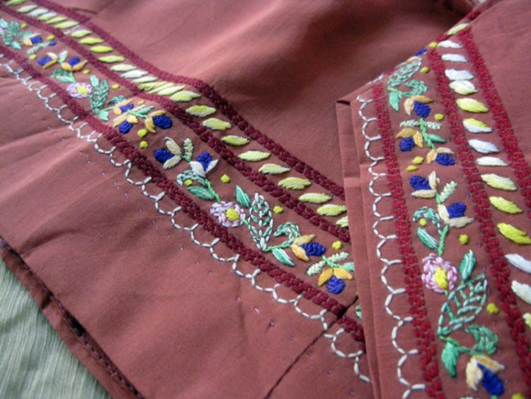 Embroidery on blouse