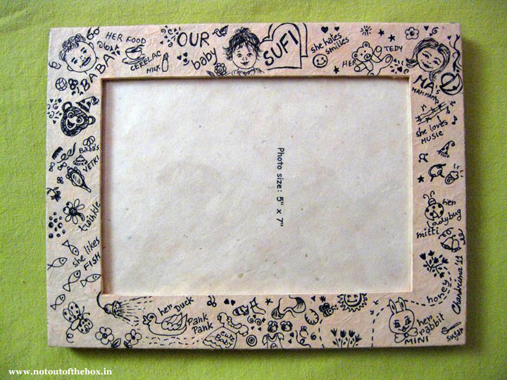 Scribbled photo frame