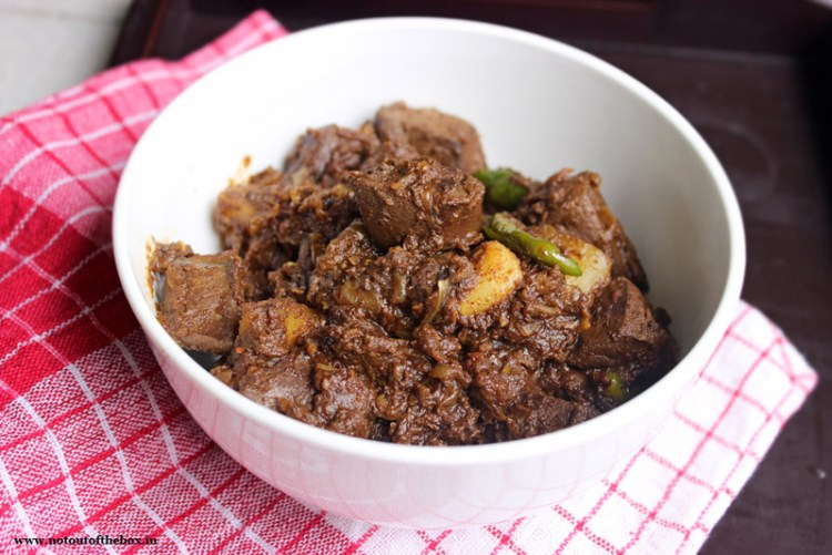Spicy Mutton Liver Curry