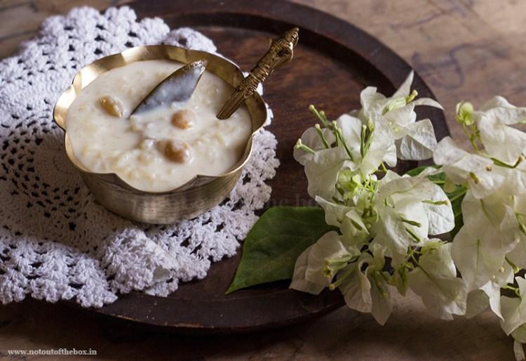 Gobindobhog Chaal er Payesh/Bengali style Rice Pudding