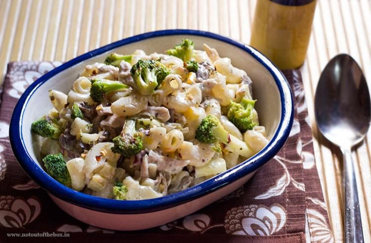 Macaroni Salad with Chicken & Mushrooms