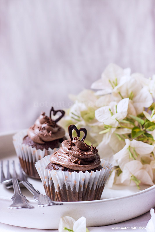 Chocolate Beetroot Cupcakes with Chocolate Fudge Frosting