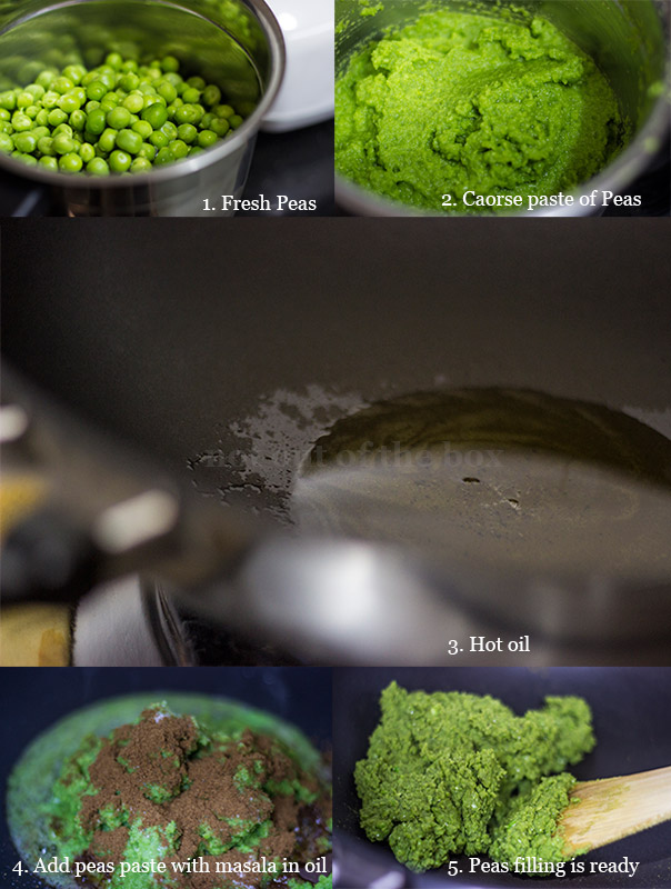 Making of Peas filling
