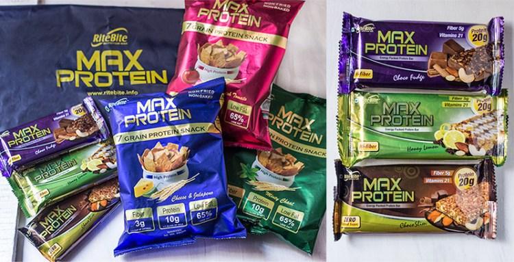 RiteBite Max Protein products
