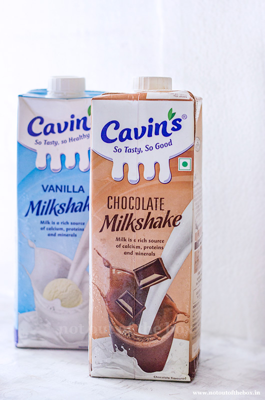 Cavin's Vanilla and Chocolate Milkshakes
