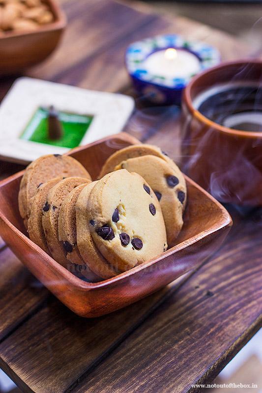 Eggless Orange Chocolate Chip Cookies