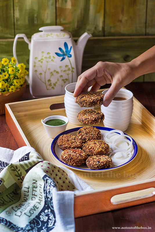 Oats Vegetable Cutlets