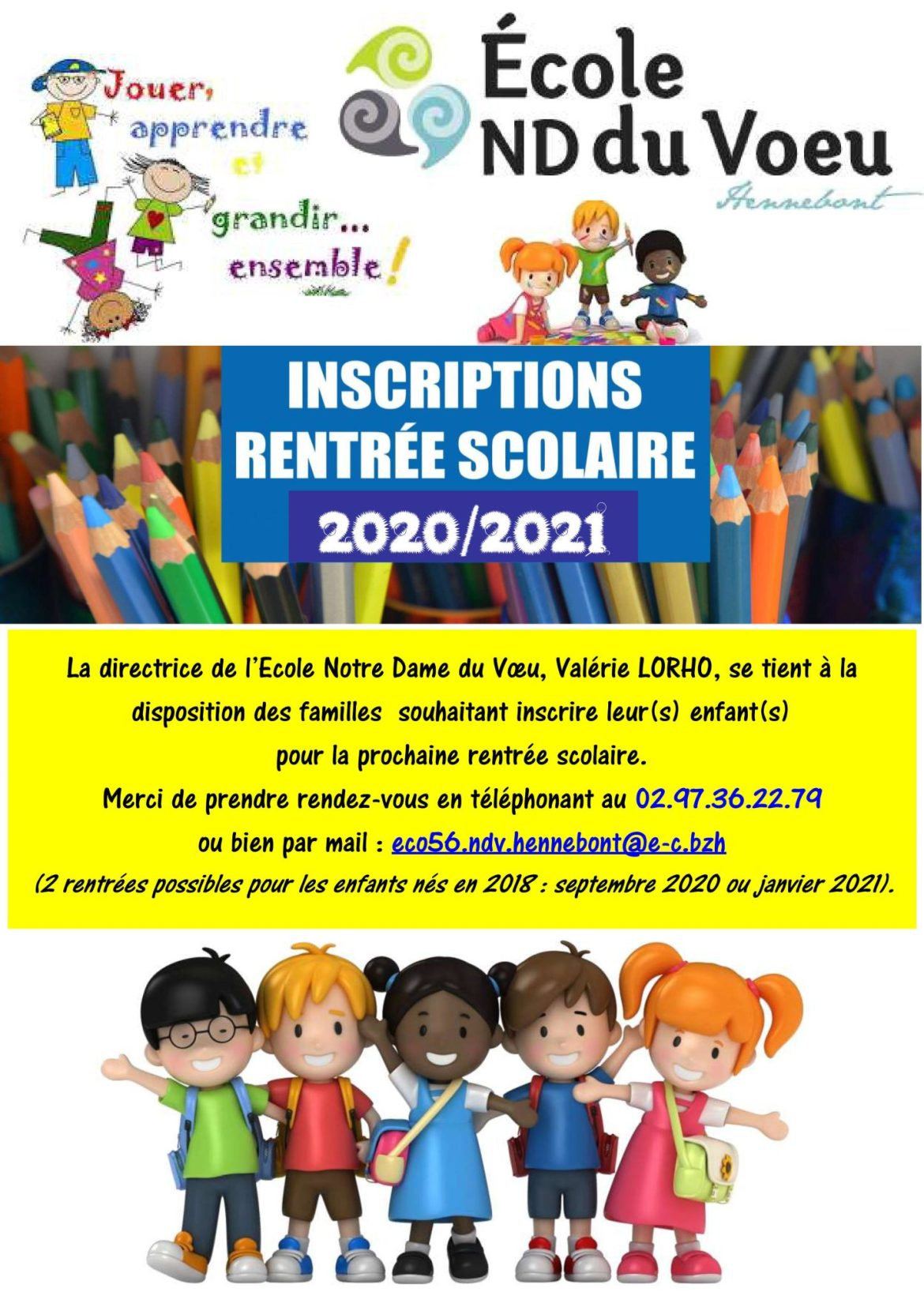 Affiche inscriptions 20 21
