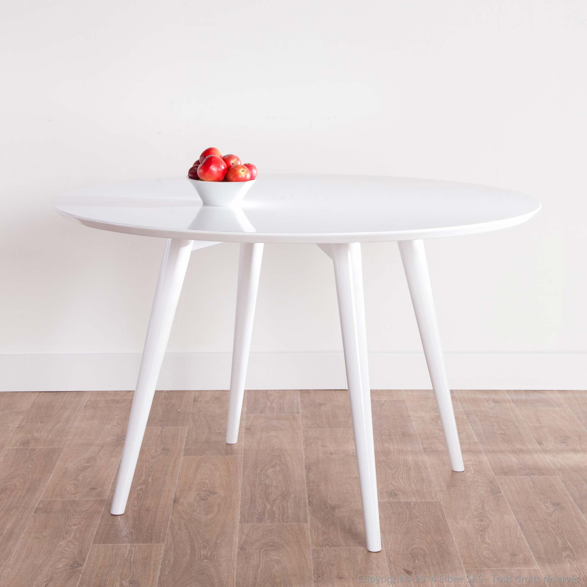 Table Ronde Blanche Table Ronde Laque Blanc Maison Design Wiblia