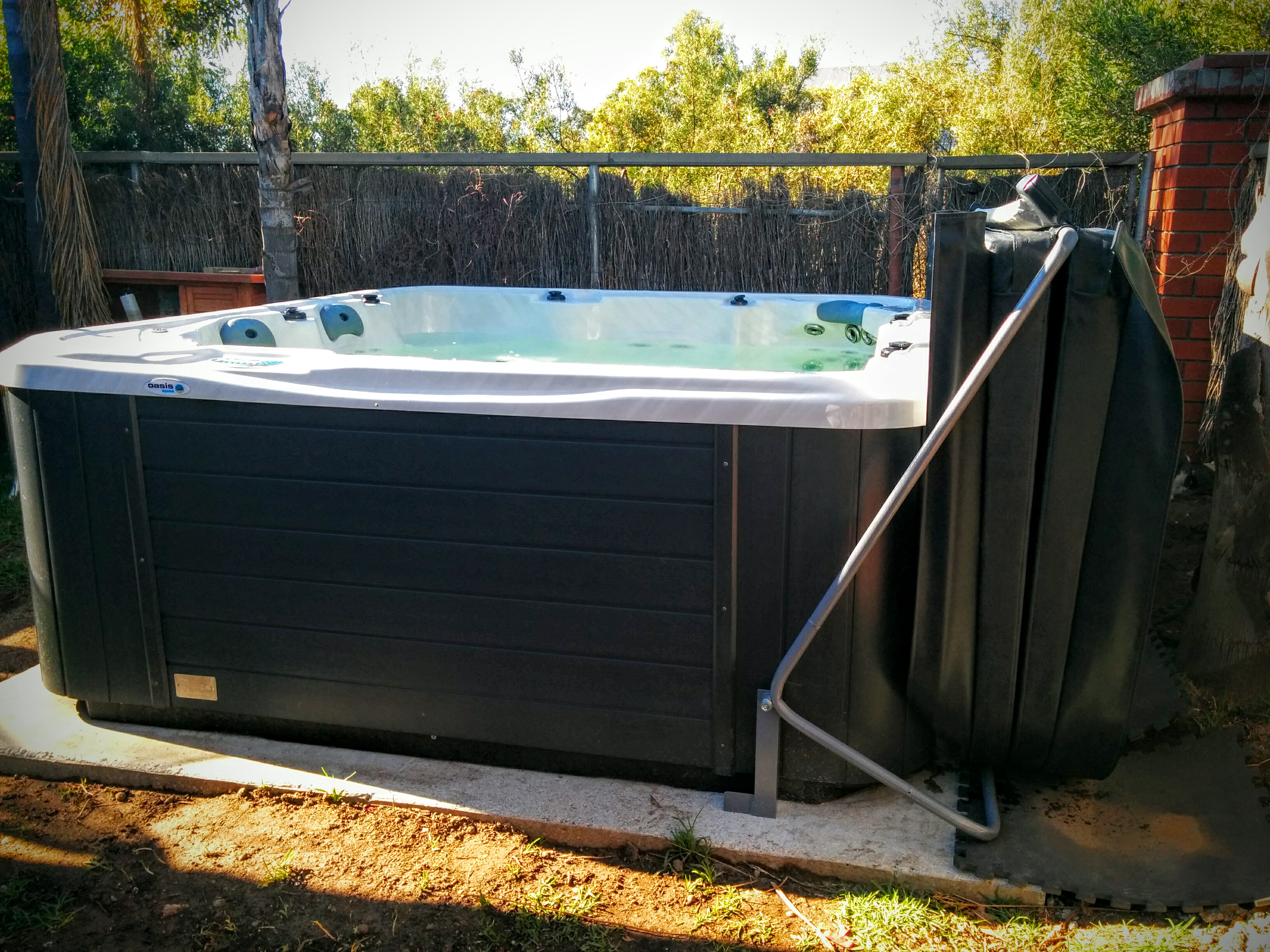 Diy Hot Tub Diy Spa Cover Lifter Home Made For 50 Metal Conduit Frame