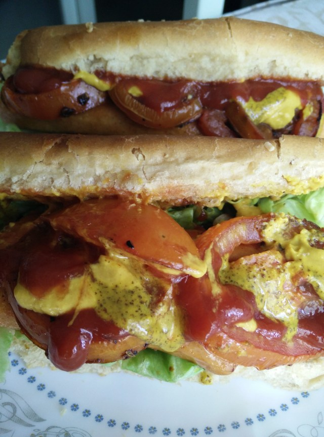 Hot Dogs: Smothered with loads of whole grain mustard