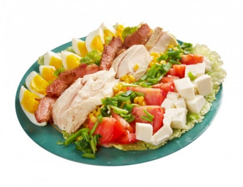 Cobb Salad: The right way to line up the greens and meats
