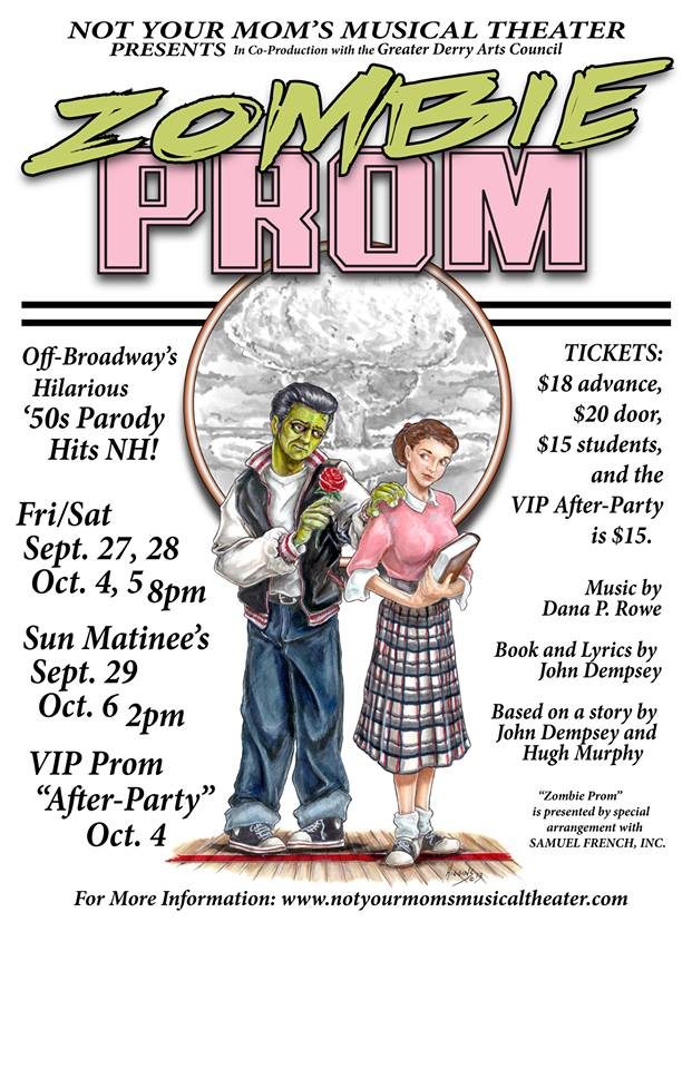 Poster from Not Your Momu0027s Musical Theatre ZOMBIE PROM The - musical theatre resume template