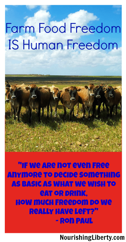 Farm Food Freedom IS Human Freedom