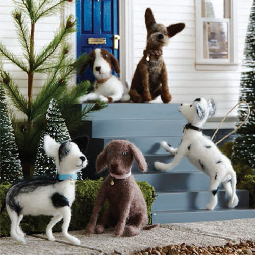 Wooden Sofa 5 X Doggie Dog Breed Christmas Tree Ornaments: Nova68.com