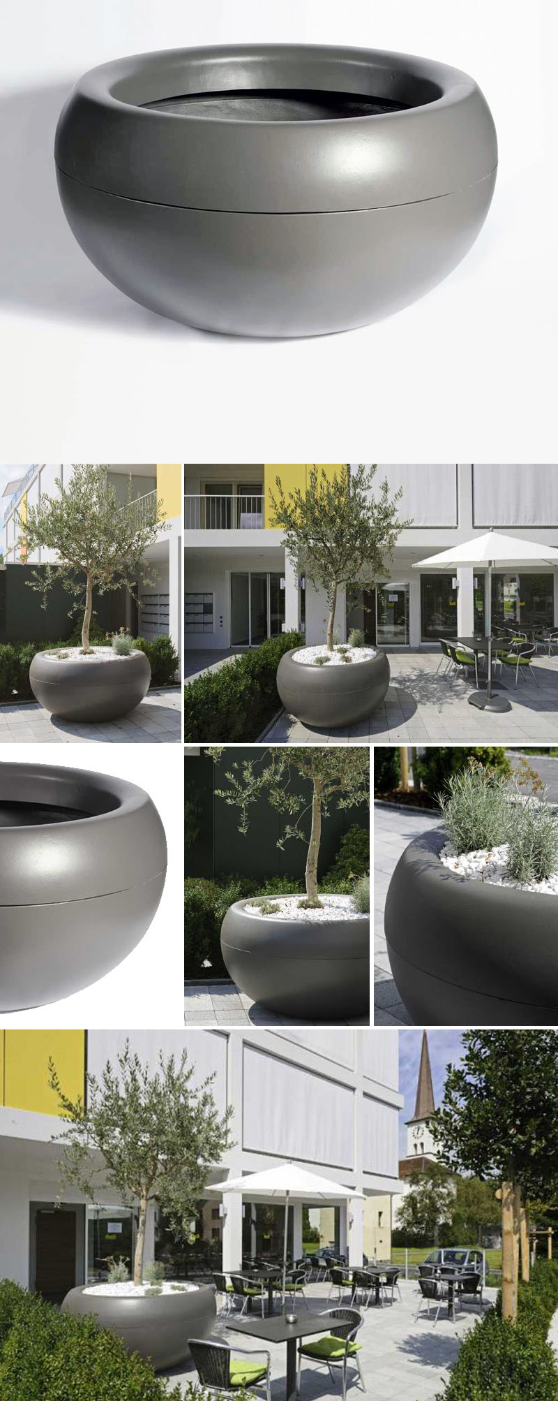 Chaise Aladin Aladin Extra Large Commericial Planter Outdoor Pots For Trees