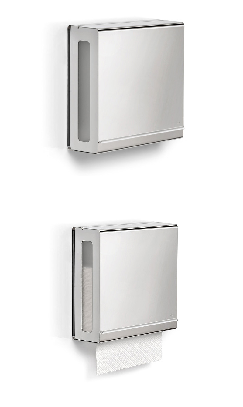 Wall Mount Paper Towel Dispensers Touchless Stainless Steel C Fold Paper Towel Dispenser Blomus