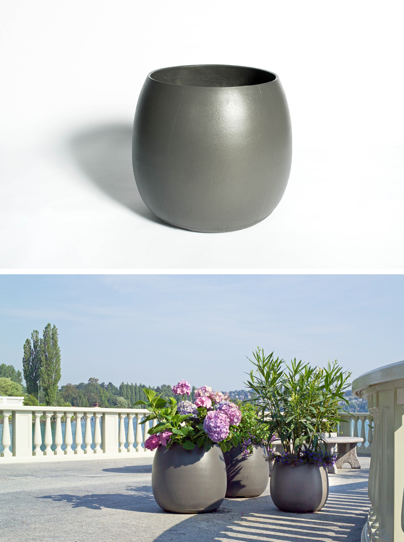 Alessi Sale Sumo Modern Barrel-shaped Outdoor Garden Design Planter